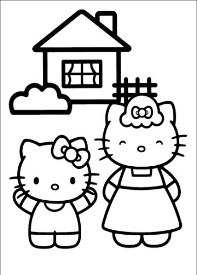kolorowanki z bajki hello kitty do wydruku