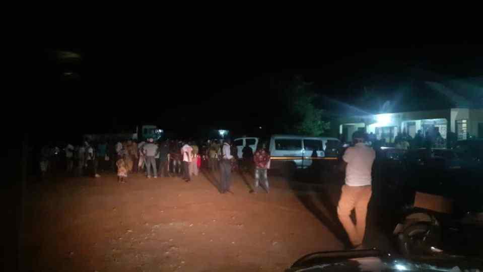 Scene at the District Kpetoe Police Headquarters Sunday night