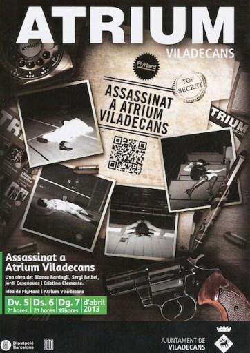 Assassinat al Atrium de Viladecans - cartell