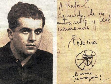 Rafael Rodríguez Rapún i unes paraules del poeta Federico García Lorca, escrites al seu amic