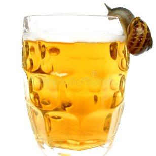 cargol addicte a la cervesa