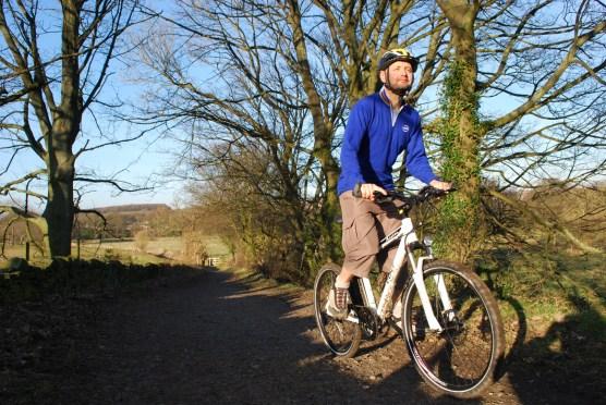 Richard Peace: electric bike expert, riding the Volt Alpine off road