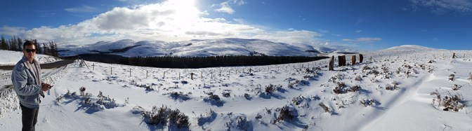 Panoramic of the Cairngorms