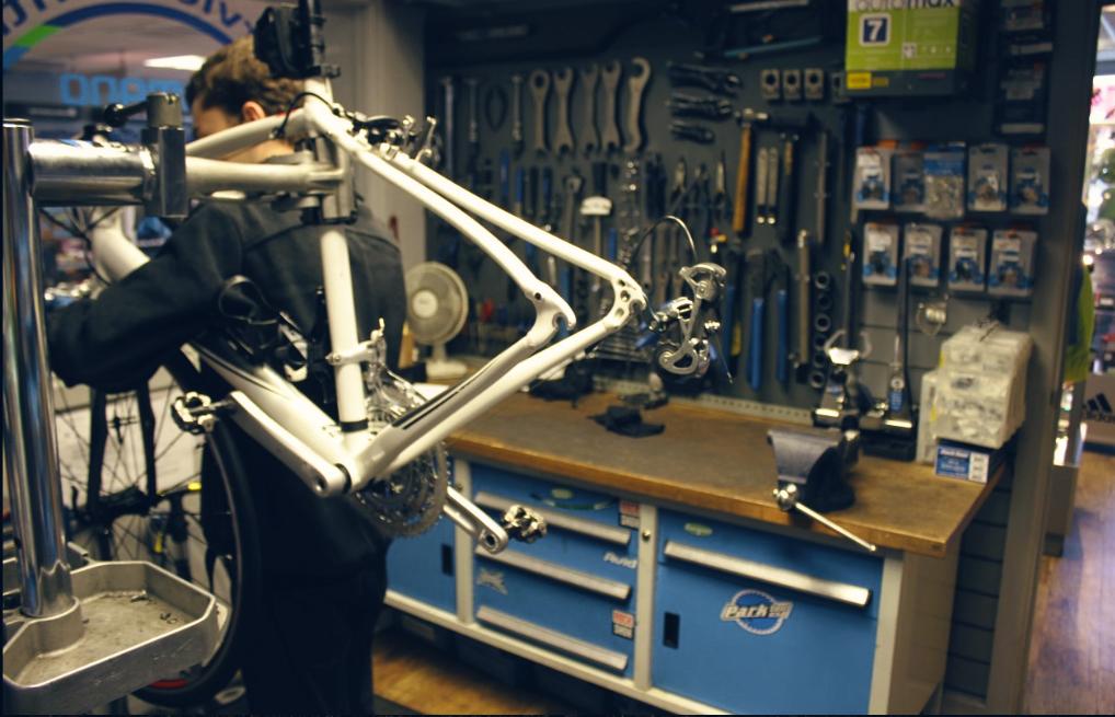Bike workshop photo