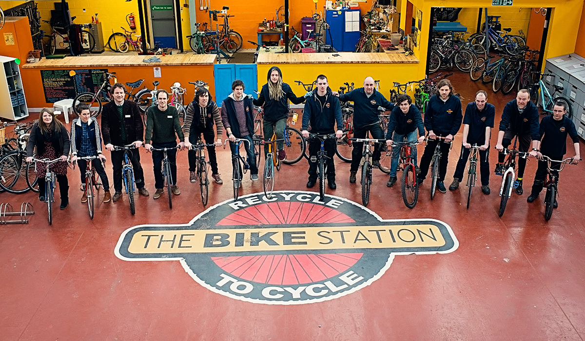 The Bike Station Glasgow Team Photo