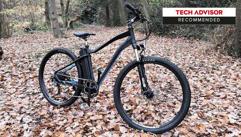 The VOLT Alpine e-bike parked in the autumn leaves for Tech Advisor