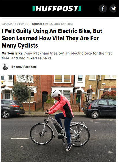 HuffPost UK's Amy Packham tests out the VOLT Pulse LS and learns the benefits of e-bikes