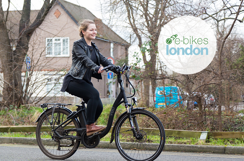 E-Bikes London features cyclist Marina on her VOLT Burlington e-bike