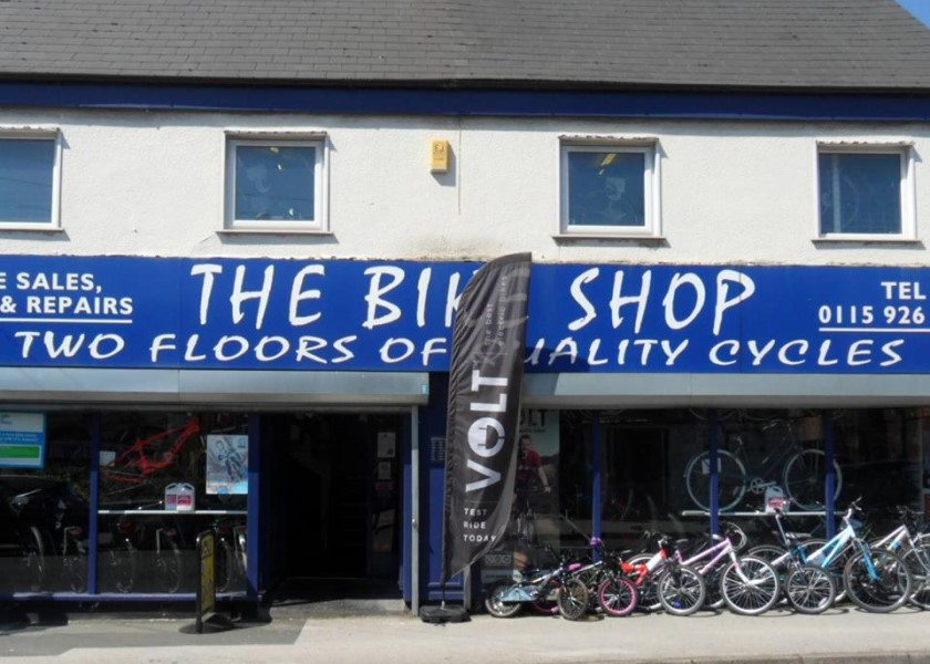 Front of the Bike Shop Nottingham