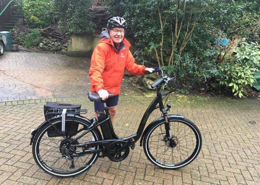 Peter Taylor with Burlington Ebike