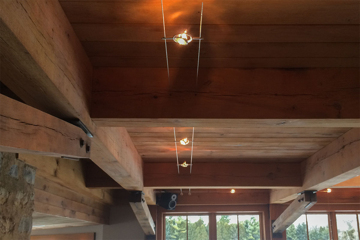 great room low voltage cable lighting