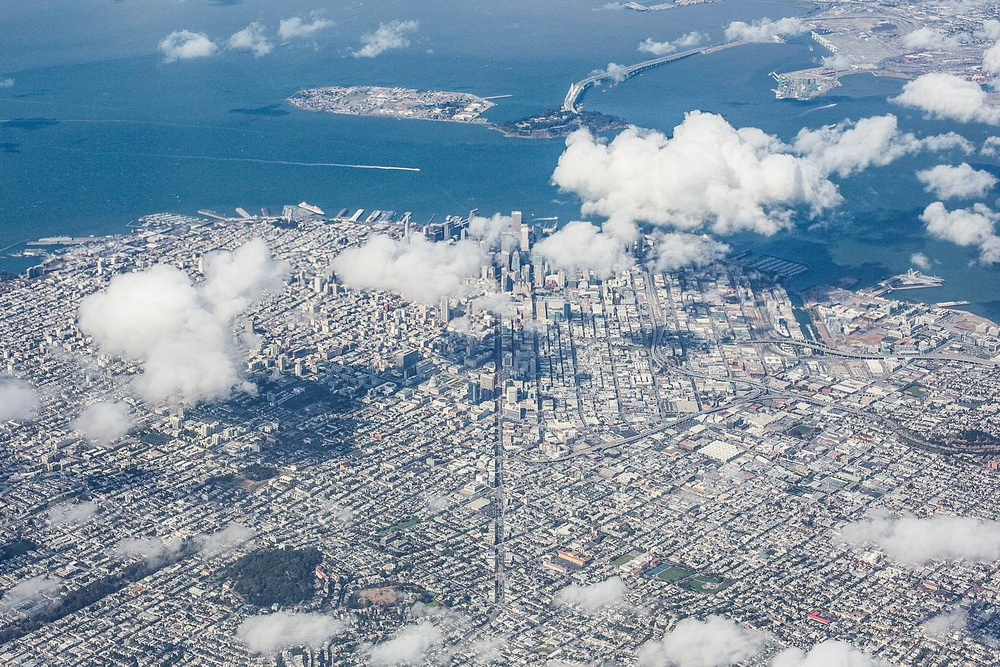 Aerial View of San Francisco Bay Area, California
