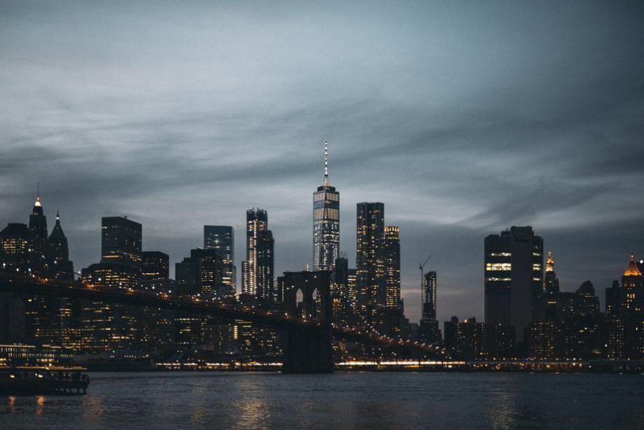 new york city skyline night
