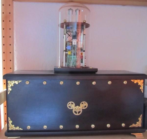 steampunk Raspberry Pi audio player