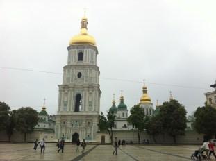 Campanario y Catedral de Santa Sofía. Kiev.