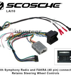 details about scosche lai10 link interface with symphony radio and swc retention [ 1000 x 913 Pixel ]