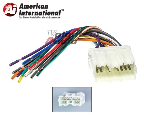 small resolution of details about mitsubishi car stereo cd player wiring harness wire aftermarket radio install