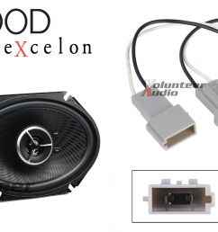 details about kenwood kfc x683c 6x8 speakers with wiring harness fits ford 1 pair 60watt rms [ 2000 x 1000 Pixel ]