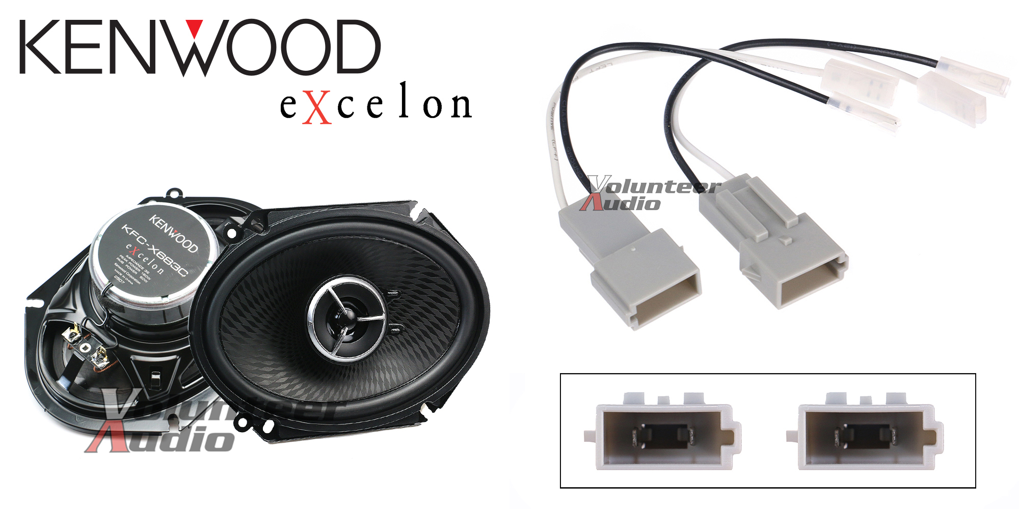 hight resolution of details about kenwood kfc x683c 6x8 speakers with wiring harness fits ford 1 pair 60watt rms