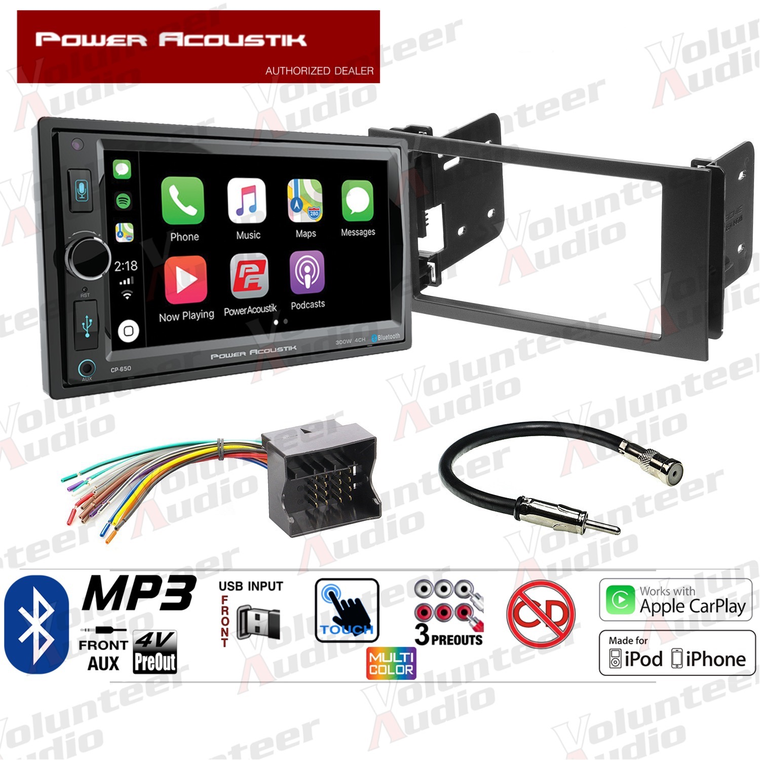 hight resolution of la foto se est cargando power acoustik pcd 52b double din car stereo