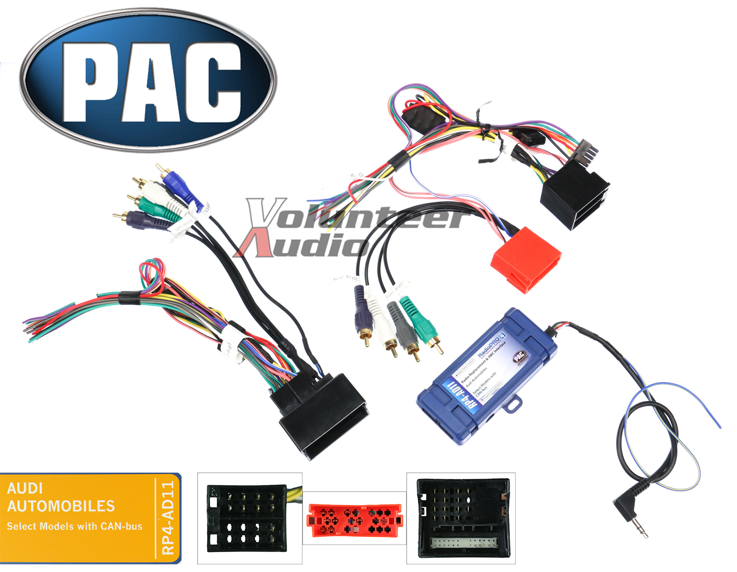 hight resolution of pac rp4 ad11 select audi radio install wiring harness interfacedetails about pac rp4 ad11 select audi