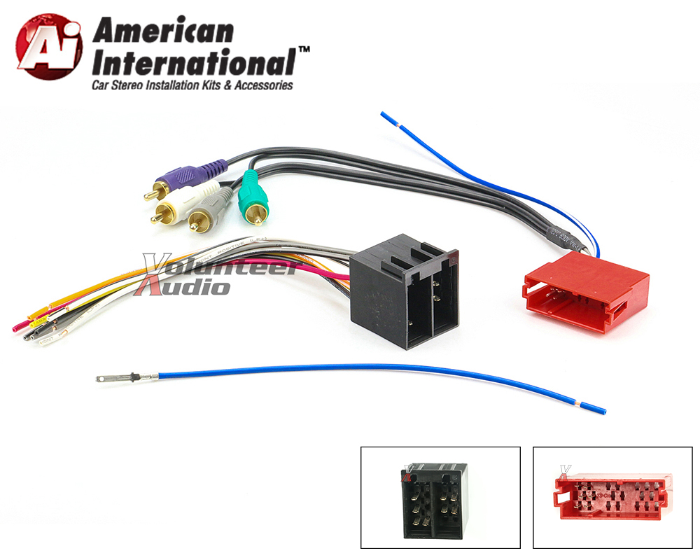 hight resolution of details about audi vw car stereo cd player wiring harness wire aftermarket radio install
