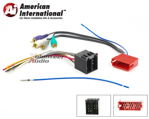 small resolution of details about audi vw car stereo cd player wiring harness wire aftermarket radio install
