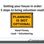Getting your house in order – Hazel Finney