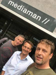 Christoph Edelmann, Jochen Fritz - Volunteers' help Friends & Marc van der Meer - Founder Volunteers' Help