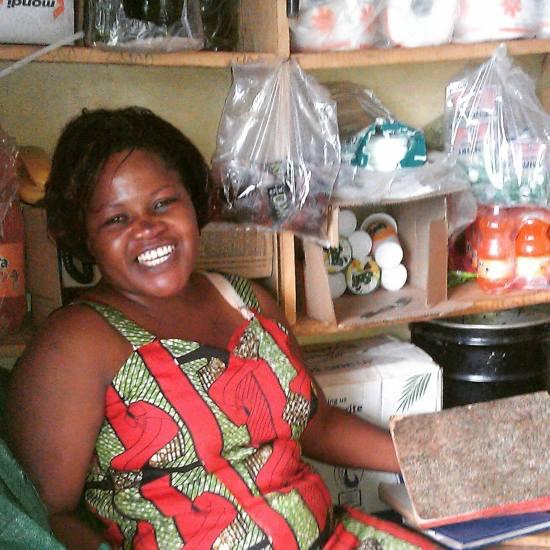 Mama Sarah at her shop