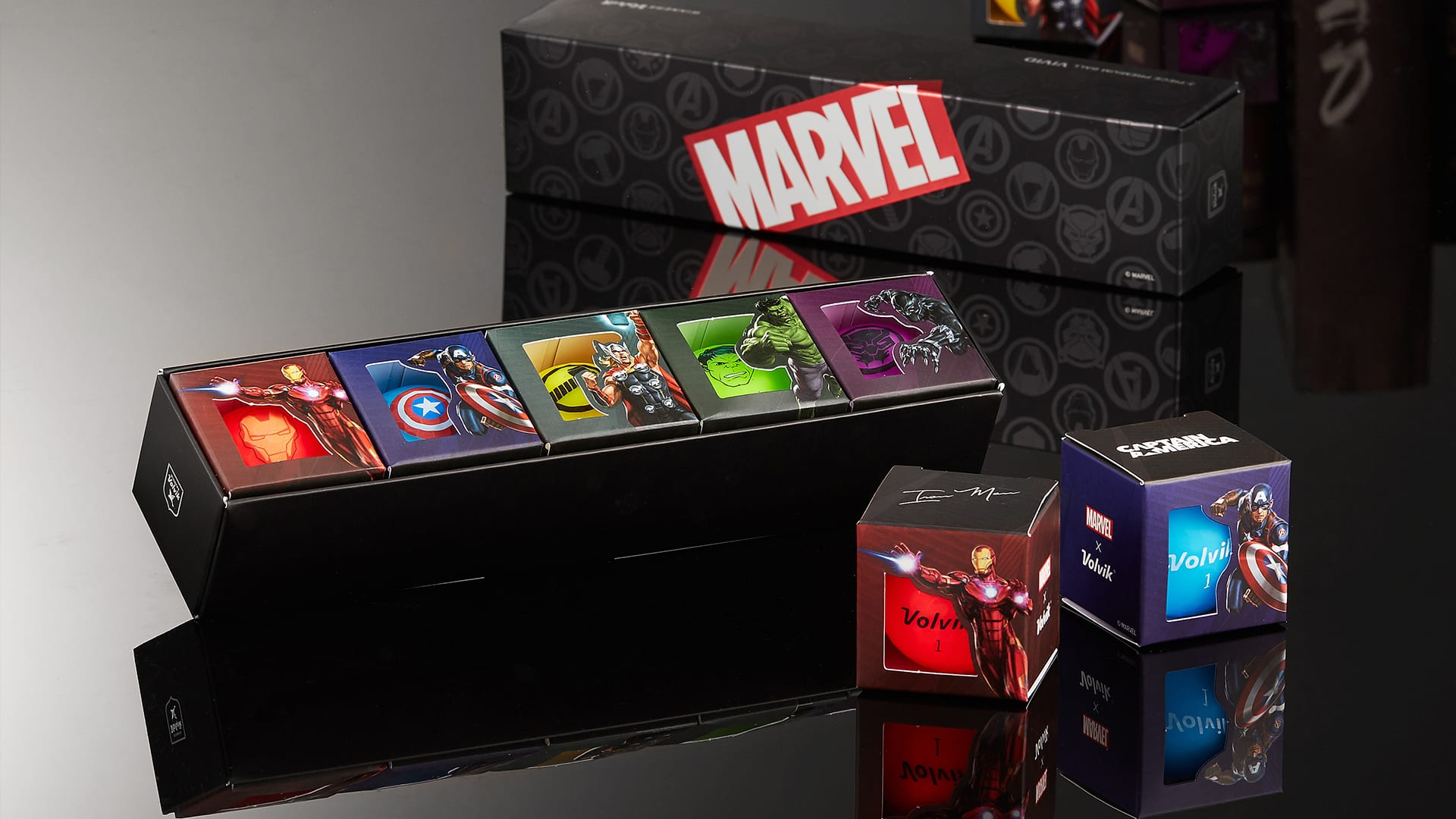Volvik Introduces Marvel Avenger Assorted Character 5-Ball Pack