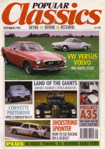 Classis car magazine with Volvo P1800