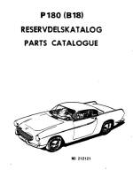 Volvo P1800 Parts catalogue