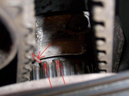 small resolution of v70 2 5t timing belt tools needed marks jpg