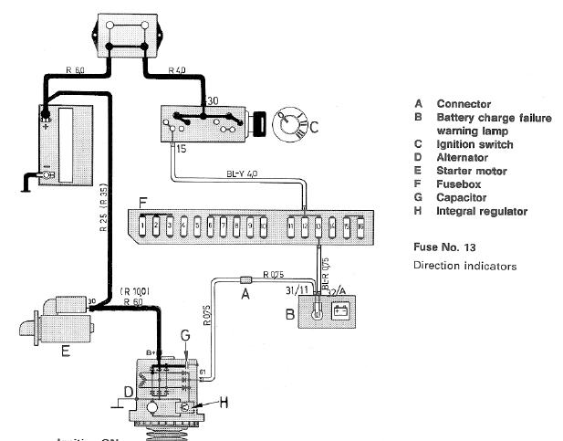 1986 chevy truck ignition switch wiring diagram 2002 honda civic transmission problems with battery light and alternator - volvo forums enthusiasts forum