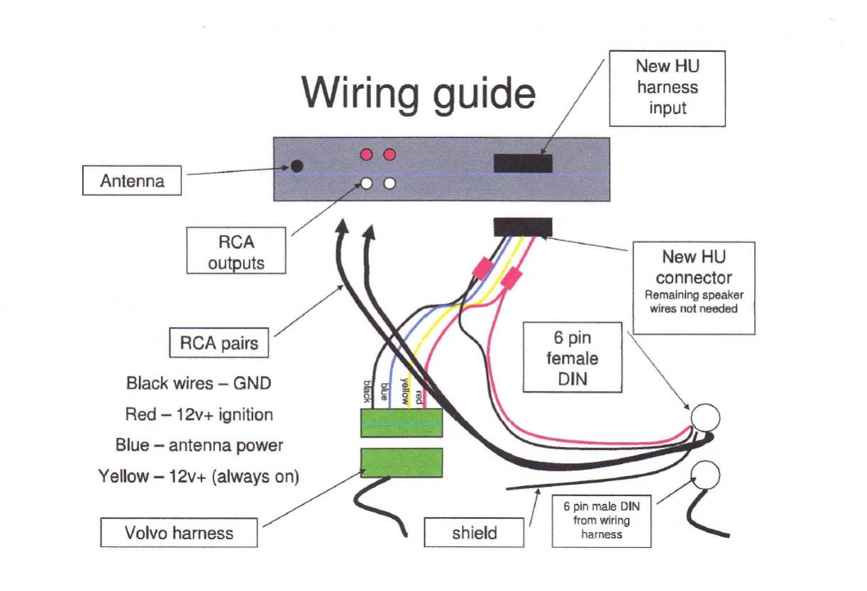 hight resolution of aftermarket radio to factory amp wiring help volvo forums volvo