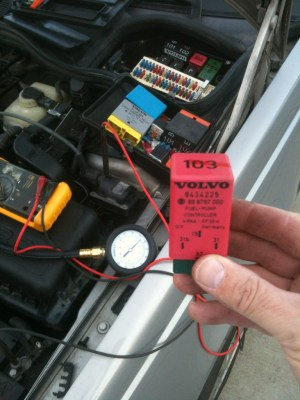 Volvo 850 random stalling and hard to start Testing Fuel Pump and Fuel Pump Relay  Volvo