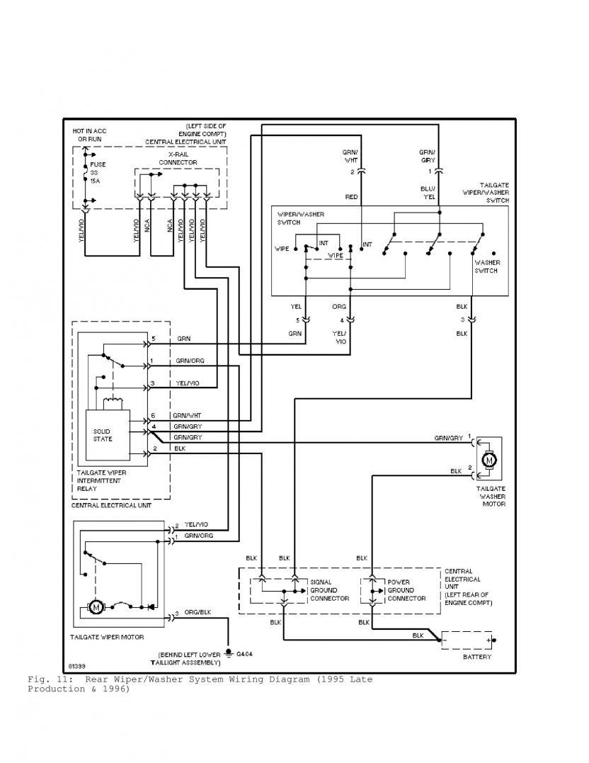 rav4 tow bar wiring diagram