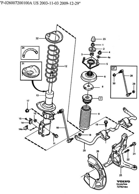 2000 Volvo V70 Front Suspension Diagram. Volvo. Auto Parts
