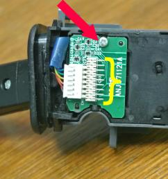 turn signal repair tutorial turn signal removed w screw jpg [ 3871 x 2591 Pixel ]