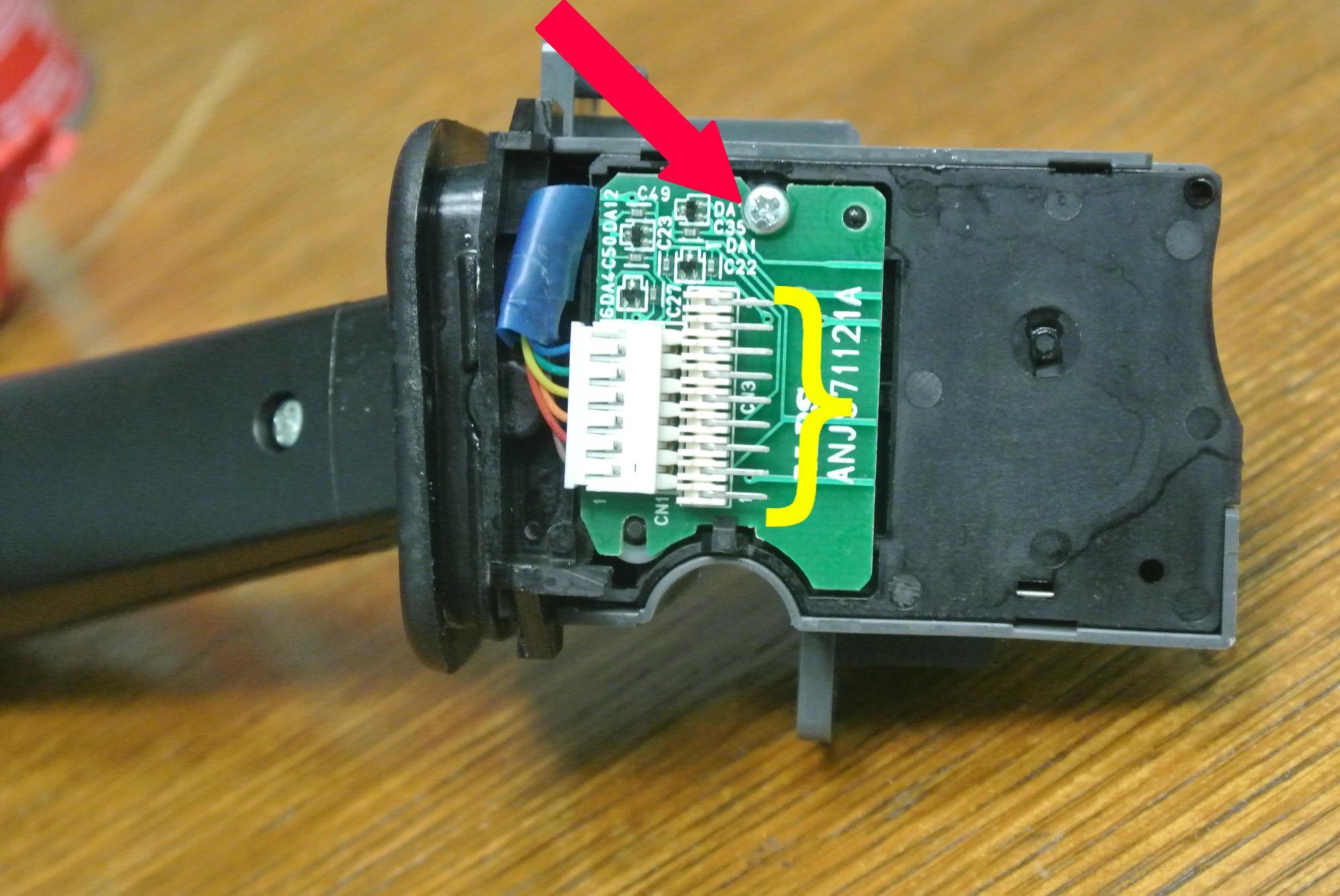 hight resolution of turn signal repair tutorial turn signal removed w screw jpg