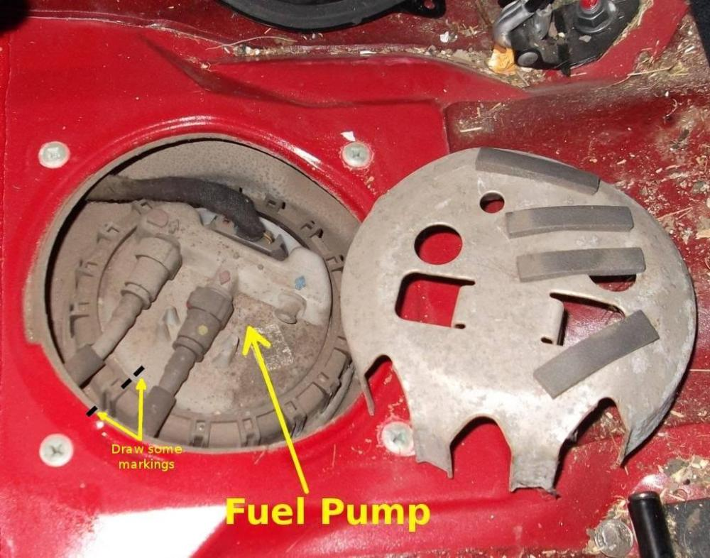 medium resolution of use a marker pen and mark a small line or dot where the pump body is in relation to the metal car body many thanks to keith 960kg for pointing this out