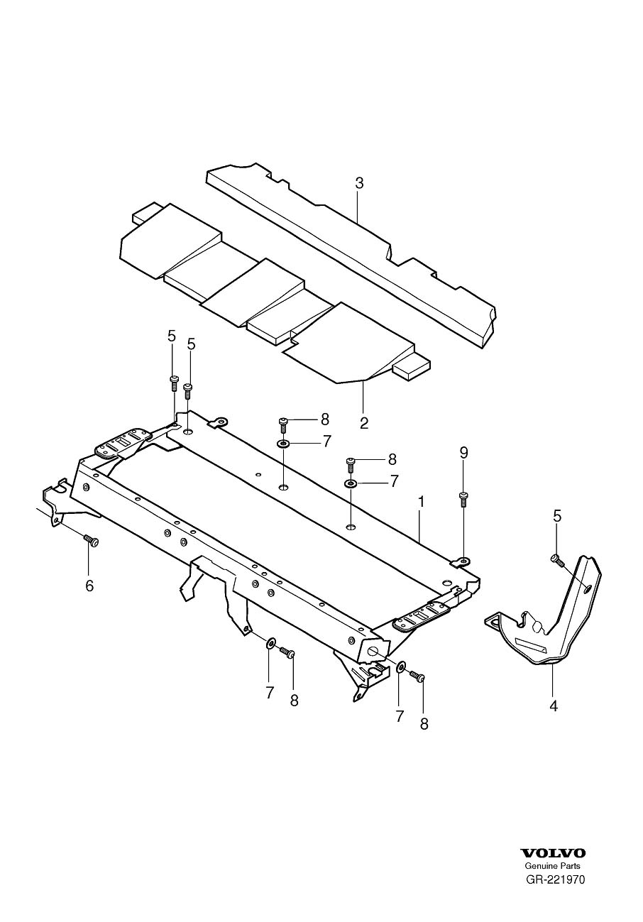 Volvo XC90 Rear seat frame Undercarriage
