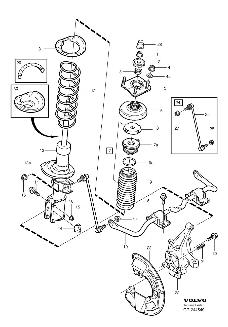 hight resolution of bad strut mount or spring seat video included rh matthewsvolvosite com volvo xc90 engine diagram volvo