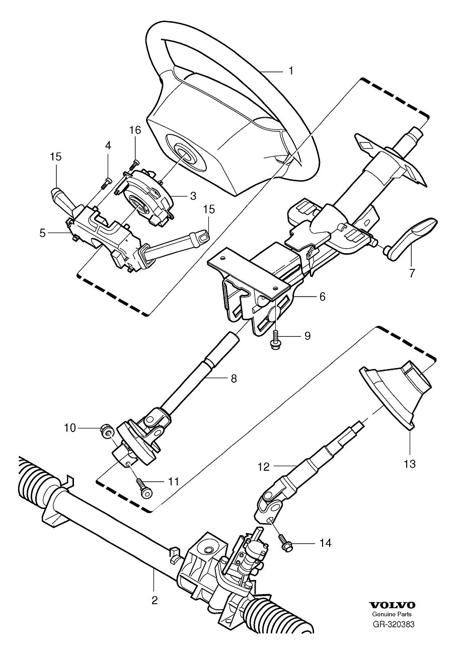 Volvo 850 Steering Column Diagram, Volvo, Free Engine