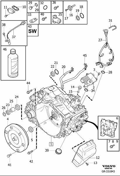 Volvo S80 Automatic, transmission, transmission, automatic