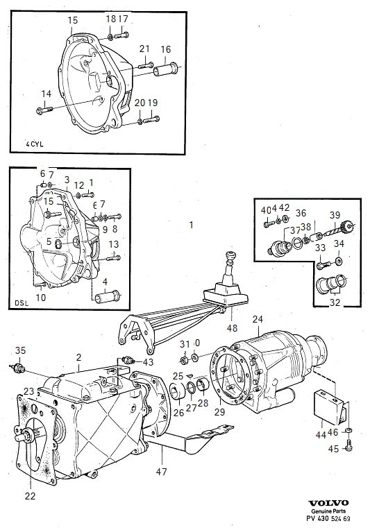 Volvo Manual transmission M46