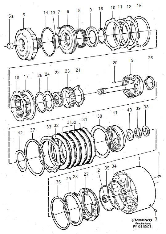 Volvo Automatic transmission planetary gearhousing