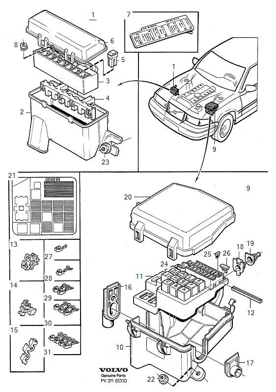 Volvo S40 Fuse Box 12v. Volvo. Auto Fuse Box Diagram