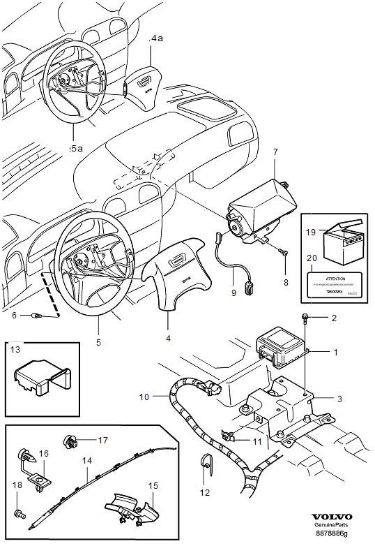 Volvo V40 Suppl. Restraint system (srs) For vehicles with